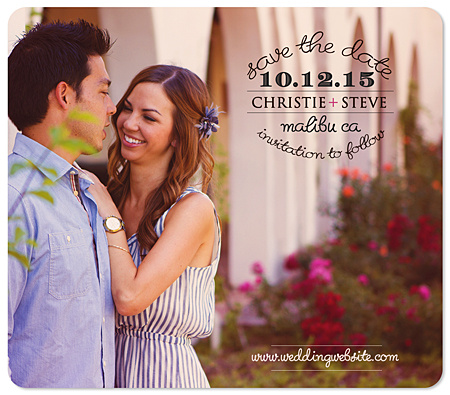 """Soft 'n Sweet"" Save the Date Magnet"