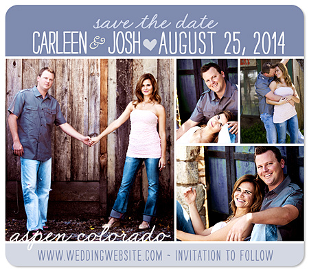 Save the Date Photo Collage Multiple Photo Magnets