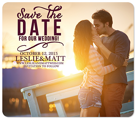 """Devoted"" Save the Date Magnet"