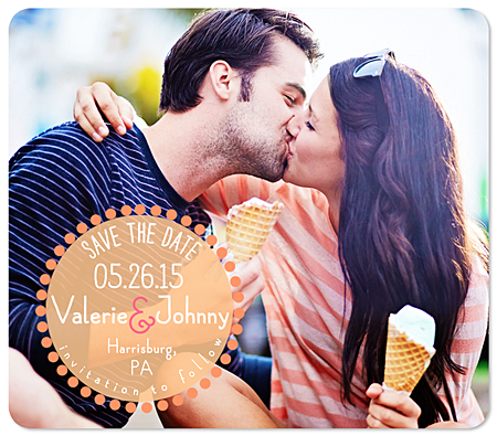 """Dotted Date"" Save the Date Magnet"