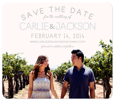 """Color Peek"" Save the Date Magnet"