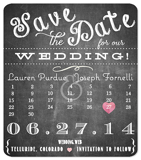 Chalk & Chalkboard Save the Date Magnets