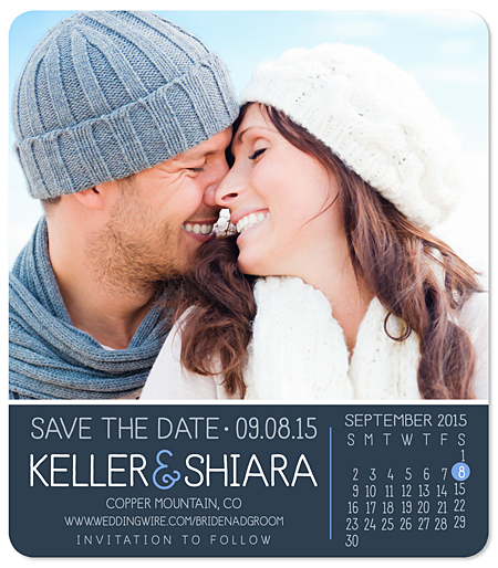 """Single Photo Calendar"" Save the Date Magnet"