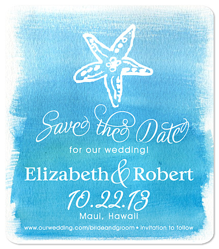 """Starfish Beachy Bliss"" Save the Date Magnet"