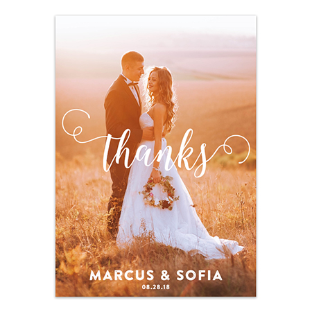 Wedding Thank You Magnet - Swirled Script