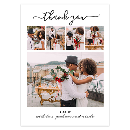Wedding Thank You Magnet Joyful Thanks
