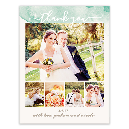 Wedding Thank You Magnet Circle Date