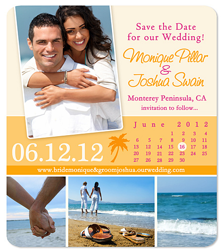 Palm Tree Calendar Save the Date Magnet – Beach Wedding Save the Date Magnets