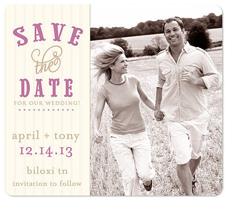 """Can Hardly Wait!"" Save the Date Magnet"