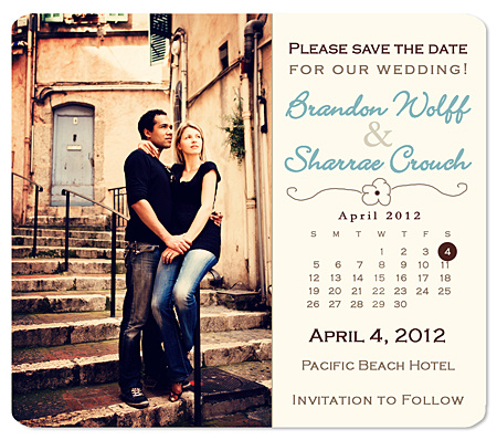Wildflower Calendar Save the Date Card