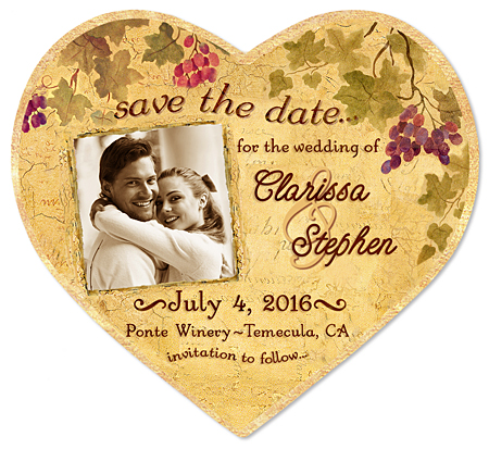 "Save the Date Magnet - ""Wine Country Photo"""