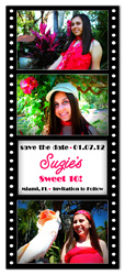 """Film Strip"" Sweet 16 Birthday Magnet"