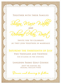 """Better Together"" Rustic Wedding Invitations"