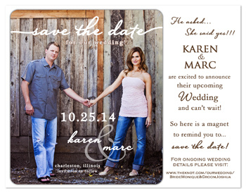 Create a save the date magnet online