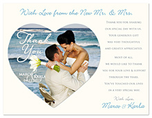 Wedding Thank You Magnets Photo Collage