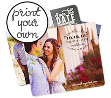"""Print Your Own Artwork"" Save the Date Card"