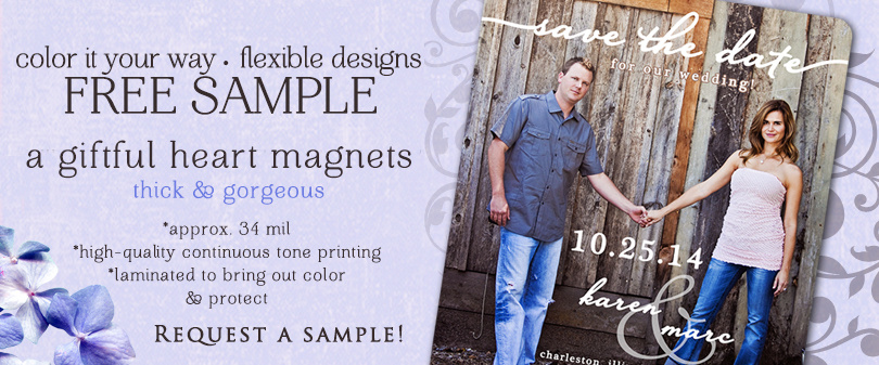 Save the Date Magnet or Invitation Sample