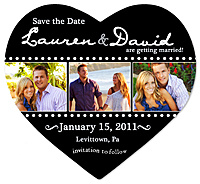 """Film Strip"" Heart Save the Date Magnet"