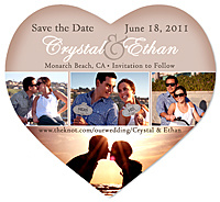 """Film Strip Photo Heart"" Save the Date Magnet"