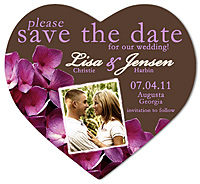 """Hydrangea Heart"" Save the Date Magnet 3.5 x 4"
