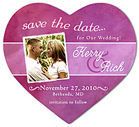 """Watercolor Stripe"" Save the Date Magnet"