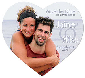 Save the Date Wedding Magnet;