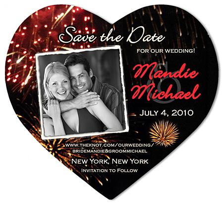 Save the Date Wedding Magnet Fireworks Coordinating Envelopes