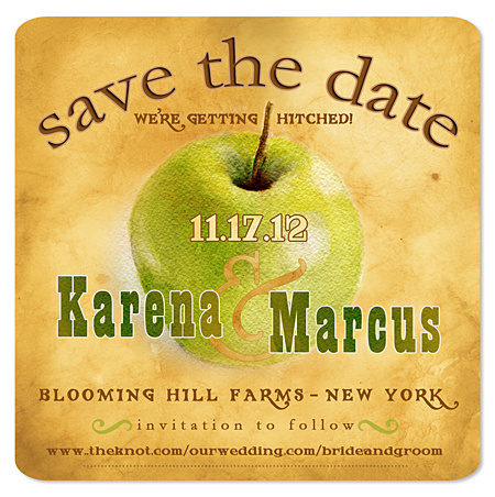 Apple Save the Date Magnet