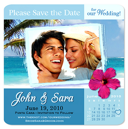 Tropical & Beach Save the Date Magnets