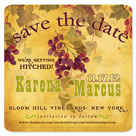 Vintage Wine Country Save the Date Magnet