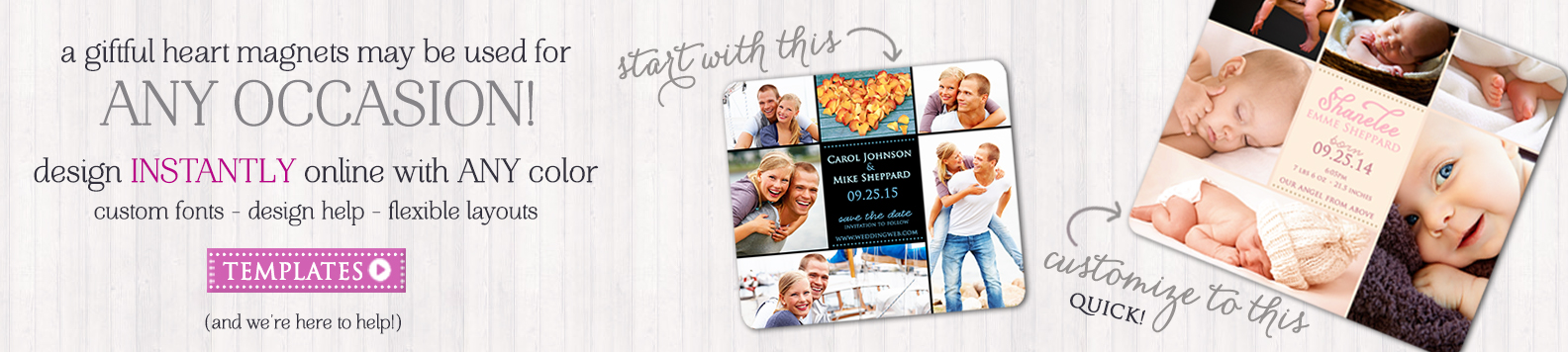 Any Occasion Custom Magnets