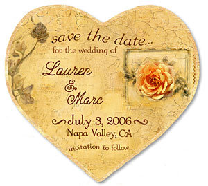"""Antiqued Calendar"" Heart Magnet - Product Image"